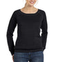 Bella + Canvas Womens Sponge Fleece Wide Neck Sweatshirt - Black