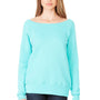 Bella + Canvas Womens Sponge Fleece Wide Neck Sweatshirt - Teal Green