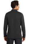 Nike 779795 Mens Dri-Fit Moisture Wicking 1/4 Zip Sweatshirt Black/Red Back