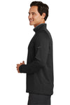 Nike 779795 Mens Dri-Fit Moisture Wicking 1/4 Zip Sweatshirt Black/Red Side