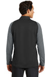 Nike 779795 Mens Dri-Fit Moisture Wicking 1/4 Zip Sweatshirt Black/Dark Grey Back