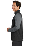 Nike 779795 Mens Dri-Fit Moisture Wicking 1/4 Zip Sweatshirt Black/Dark Grey Side