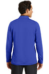 Nike 779795 Mens Dri-Fit Moisture Wicking 1/4 Zip Sweatshirt Royal Blue/Black Back