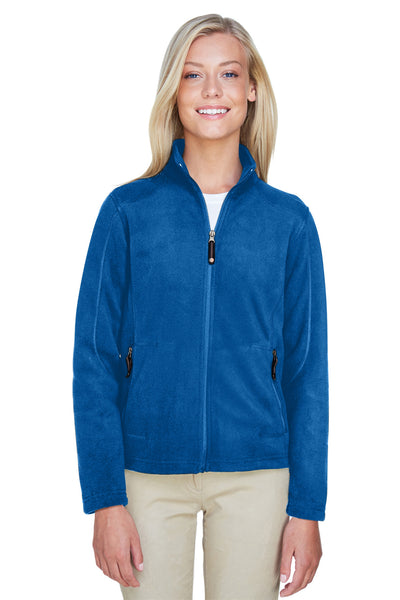 North End 78172 Womens Voyage Full Zip Fleece Jacket Royal Blue Front