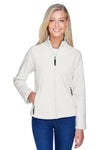 North End 78172 Womens Voyage Full Zip Fleece Jacket White Front