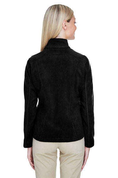 North End 78172 Womens Voyage Full Zip Fleece Jacket Black Back