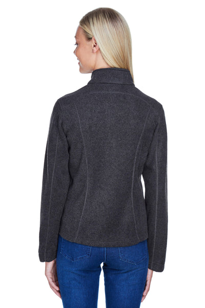 North End 78172 Womens Voyage Full Zip Fleece Jacket Heather Charcoal Grey Back