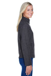 North End 78172 Womens Voyage Full Zip Fleece Jacket Heather Charcoal Grey Side