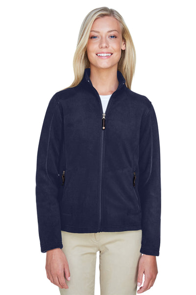 North End 78172 Womens Voyage Full Zip Fleece Jacket Navy Blue Front
