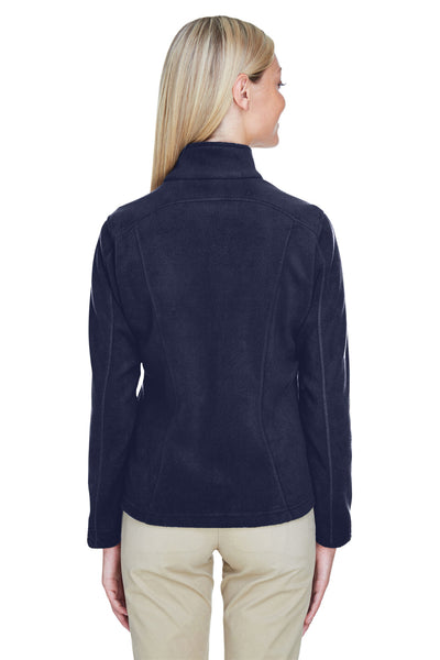 North End 78172 Womens Voyage Full Zip Fleece Jacket Navy Blue Back