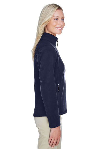 North End 78172 Womens Voyage Full Zip Fleece Jacket Navy Blue Side