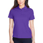 Core 365 Womens Origin Performance Moisture Wicking Short Sleeve Polo Shirt - Campus Purple