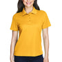 Core 365 Womens Origin Performance Moisture Wicking Short Sleeve Polo Shirt - Campus Gold