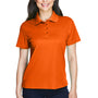 Core 365 Womens Origin Performance Moisture Wicking Short Sleeve Polo Shirt - Campus Orange