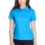 Core 365 Womens Origin Performance Moisture Wicking Short Sleeve Polo Shirt - Electric Blue