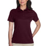 Core 365 Womens Origin Performance Moisture Wicking Short Sleeve Polo Shirt - Burgundy