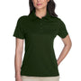 Core 365 Womens Origin Performance Moisture Wicking Short Sleeve Polo Shirt - Forest Green