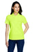 Core 365 78181 Womens Origin Performance Moisture Wicking Short Sleeve Polo Shirt Safety Yellow Front