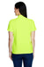 Core 365 78181 Womens Origin Performance Moisture Wicking Short Sleeve Polo Shirt Safety Yellow Back