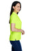 Core 365 78181 Womens Origin Performance Moisture Wicking Short Sleeve Polo Shirt Safety Yellow Side