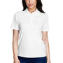 Core 365 Womens Origin Performance Moisture Wicking Short Sleeve Polo Shirt - White