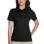 Core 365 Womens Origin Performance Moisture Wicking Short Sleeve Polo Shirt - Black