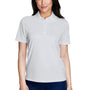 Core 365 Womens Origin Performance Moisture Wicking Short Sleeve Polo Shirt - Platinum Grey