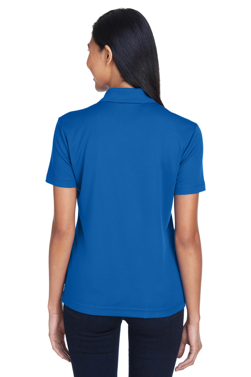 Core 365 78181P Womens Origin Performance Moisture Wicking Short Sleeve Polo Shirt w/ Pocket Royal Blue Back