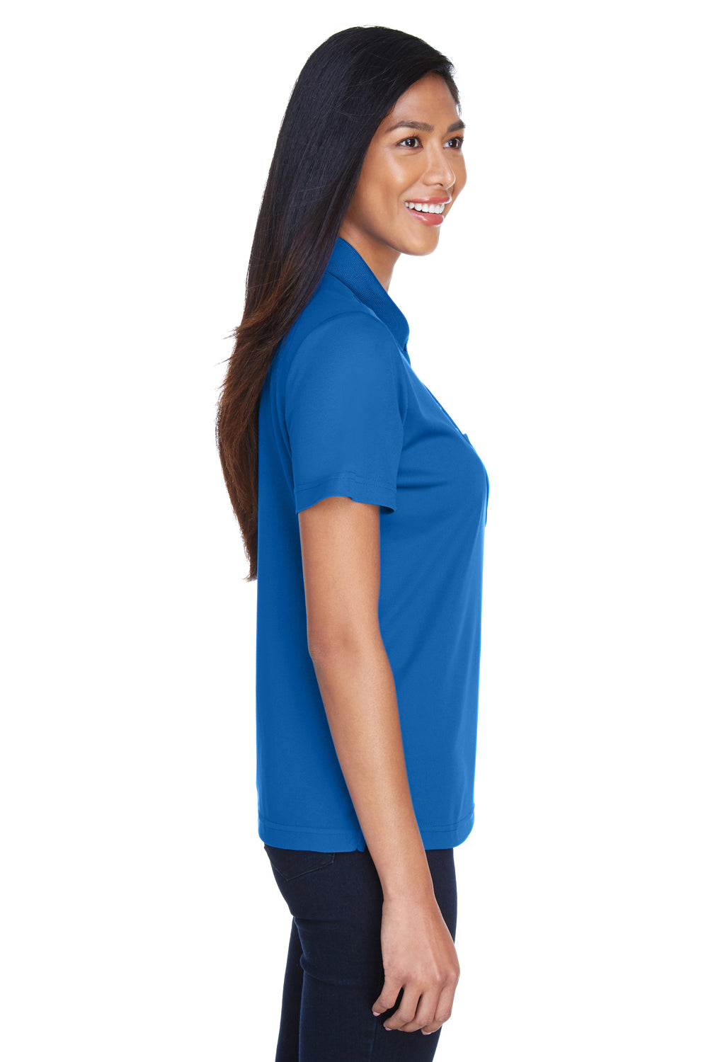 Core 365 78181P Womens Origin Performance Moisture Wicking Short Sleeve Polo Shirt w/ Pocket Royal Blue Side