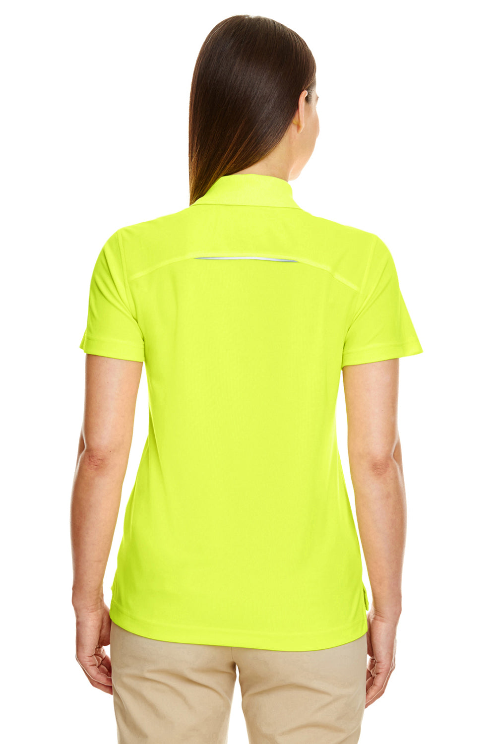 Core 365 78181R Womens Radiant Performance Moisture Wicking Short Sleeve Polo Shirt Safety Yellow Back