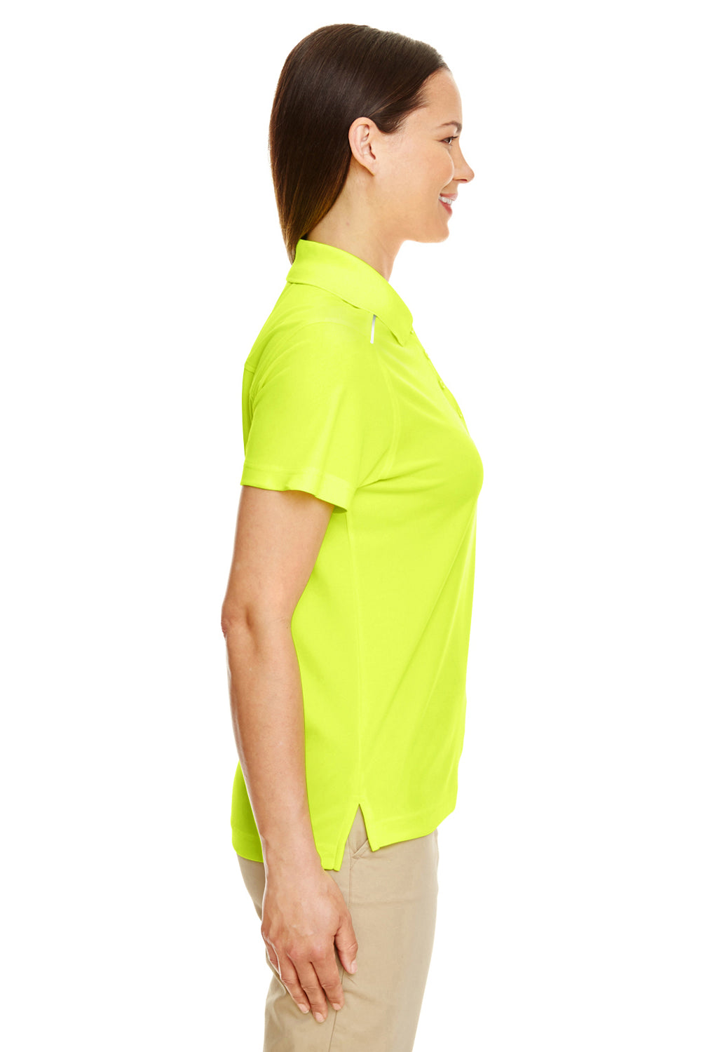 Core 365 78181R Womens Radiant Performance Moisture Wicking Short Sleeve Polo Shirt Safety Yellow Side