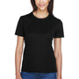 Core 365 Womens Pace Performance Moisture Wicking Short Sleeve Crewneck T-Shirt - Black