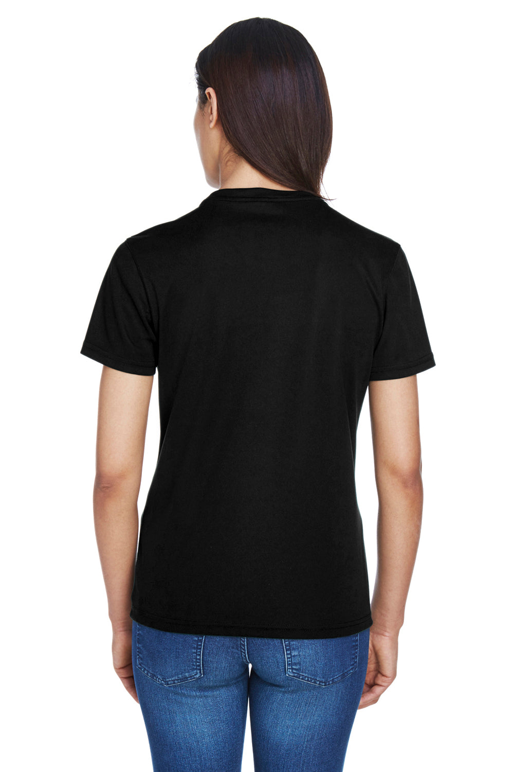Core 365 78182 Womens Pace Performance Moisture Wicking Short Sleeve Crewneck T-Shirt Black Back