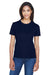 Core 365 78182 Womens Pace Performance Moisture Wicking Short Sleeve Crewneck T-Shirt Navy Blue Front