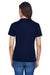 Core 365 78182 Womens Pace Performance Moisture Wicking Short Sleeve Crewneck T-Shirt Navy Blue Back