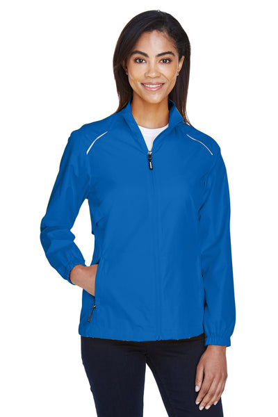 Core 365 78183 Womens Motivate Water Resistant Full Zip Jacket Royal Blue Front