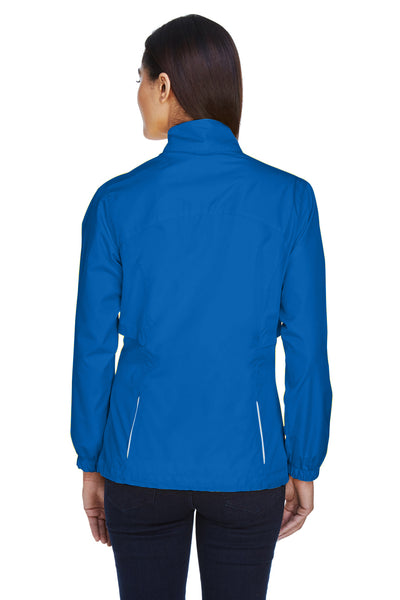 Core 365 78183 Womens Motivate Water Resistant Full Zip Jacket Royal Blue Back