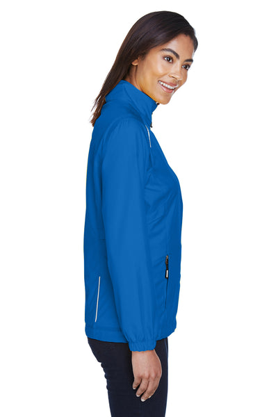 Core 365 78183 Womens Motivate Water Resistant Full Zip Jacket Royal Blue Side