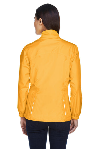 Core 365 78183 Womens Motivate Water Resistant Full Zip Jacket Gold Back