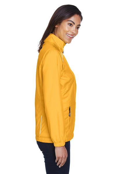 Core 365 78183 Womens Motivate Water Resistant Full Zip Jacket Gold Side