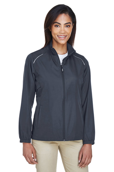 Core 365 78183 Womens Motivate Water Resistant Full Zip Jacket Carbon Grey Front