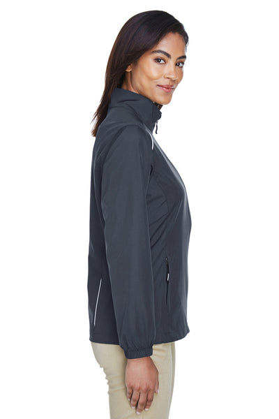 Core 365 78183 Womens Motivate Water Resistant Full Zip Jacket Carbon Grey Side