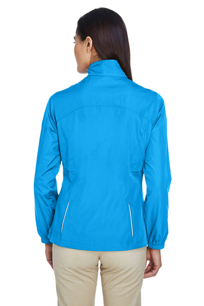 Core 365 78183 Womens Motivate Water Resistant Full Zip Jacket Electric Blue Back