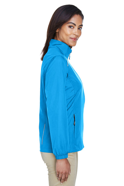 Core 365 78183 Womens Motivate Water Resistant Full Zip Jacket Electric Blue Side