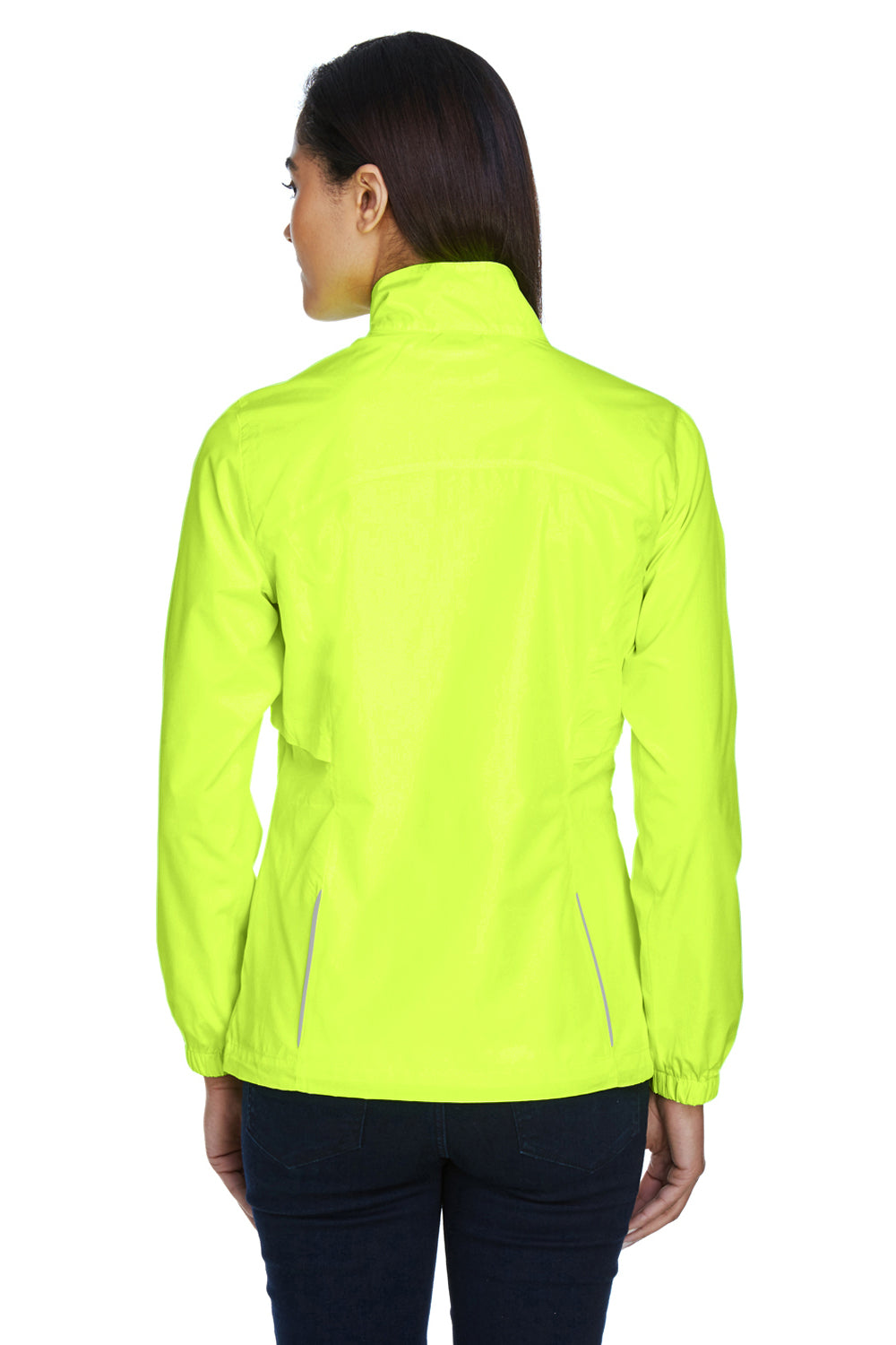 Core 365 78183 Womens Motivate Water Resistant Full Zip Jacket Safety Yellow Back