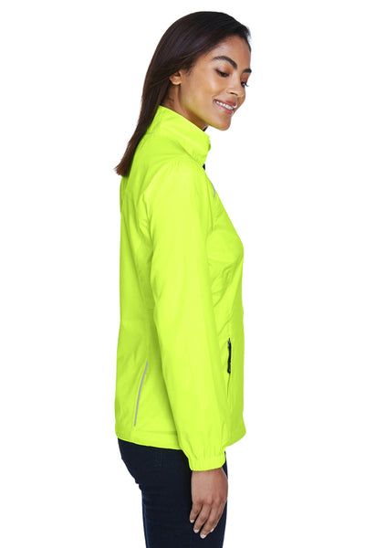 Core 365 78183 Womens Motivate Water Resistant Full Zip Jacket Safety Yellow Side