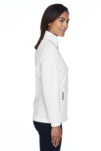 Core 365 78183 Womens Motivate Water Resistant Full Zip Jacket White Side