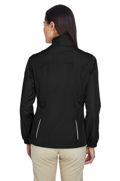 Core 365 78183 Womens Motivate Water Resistant Full Zip Jacket Black Back