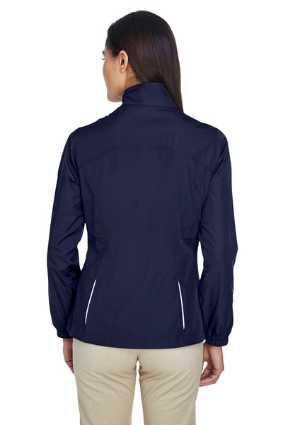 Core 365 78183 Womens Motivate Water Resistant Full Zip Jacket Navy Blue Back