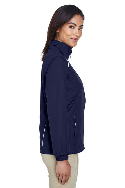 Core 365 78183 Womens Motivate Water Resistant Full Zip Jacket Navy Blue Side